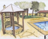 Outdoor spa and pool area (Artist Impression)