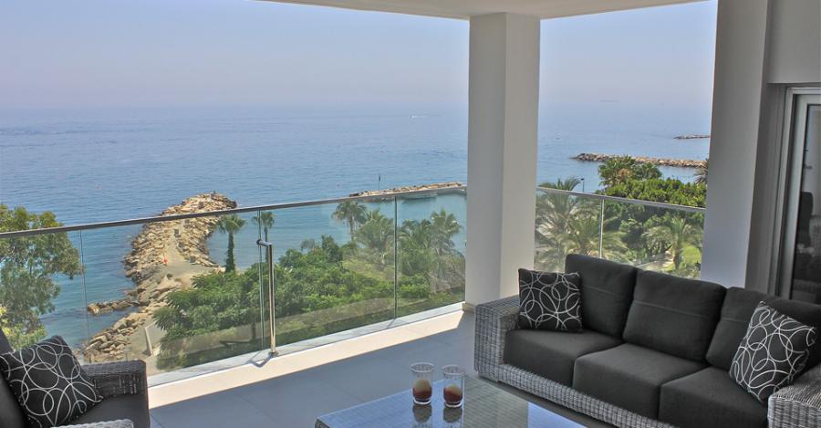 Sea Side luxury apartment for sale in Limassol Cyprus.
