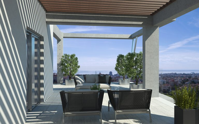 New Penthouse for sale in Agios Athanasios, Penthouse for sale in Limassol, Penthouse limassol Penthouse Cyprus, Apartment with great views in Limassol, Spectre, Real Estate, Properties for sale in Limassol